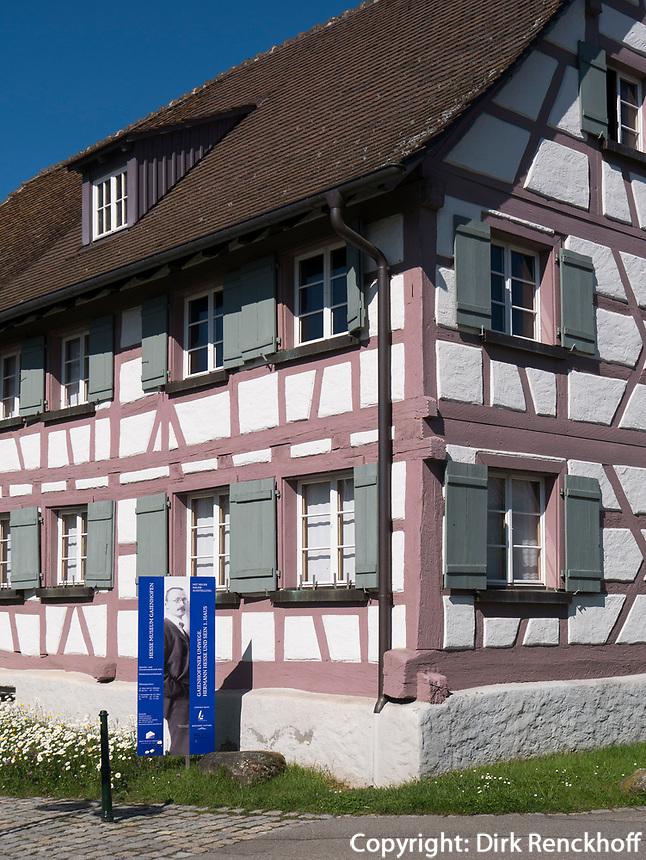 Hermann Hesse Museum Gaienhofen am Bodensee, Baden-Württemberg, Deutschland, Europa<br /> Hermann Hese Museum  in Gaienhofen at lake Constance, Baden-Württemberg, Germany, Europe