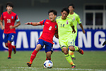 South Korea vs Japan during the 2014 AFC U19 Mens Championship group C match on October 13, 2014 at the Wunna Theikdi Stadium, in Naypyidaw, Myanmar. Photo by World Sport Group