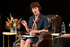 """September 25, 2019; Panelist Kathleen McChesney, former FBI executive assistant director who investigated victim allegations, answers a question during the 2019-20 Notre Dame Forum titled """"'Rebuild My Church': Crisis and Response,"""" with a discussion on """"The Church Crisis: Where Are We Now?"""" held at the DeBartolo Performing Arts Center. (Photo by Barbara Johnston/University of Notre Dame)."""