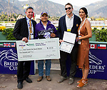 November 2, 2019: Best Turned Out horse, Breeders' Cup Distaff on Breeders' Cup World Championship Saturday at Santa Anita Park on November 2, 2019: in Arcadia, California. Bill Denver/Eclipse Sportswire/CSM