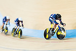 The team of France with Benjamin Edelin, Quentin Lafargue and Sebastien Vigier compete in Men's Team Sprint 1st Round match as part of the 2017 UCI Track Cycling World Championships on 12 April 2017, in Hong Kong Velodrome, Hong Kong, China. Photo by Victor Fraile / Power Sport Images