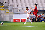 Ngan Van Dai of Vietnam (R) competes for the ball with Ehsan Haji Safi of Iran during the AFC Asian Cup UAE 2019 Group D match between Vietnam (VIE) and I.R. Iran (IRN) at Al Nahyan Stadium on 12 January 2019 in Abu Dhabi, United Arab Emirates. Photo by Marcio Rodrigo Machado / Power Sport Images