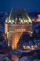 Amérique/Amérique du Nord/Canada/Québec/ Québec: Château Frontenac et en fond le Saint Laurent