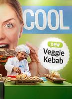 Nederland - Amsterdam - Januari 2019.  HORECAVA. Er zijn dit jaar veel gezonde, vegetarische en duurzame producten te zien en te proeven. Daddy Cool. Authentic Kebab en Veggie Kebab.    Foto Berlinda van Dam / Hollandse Hoogte