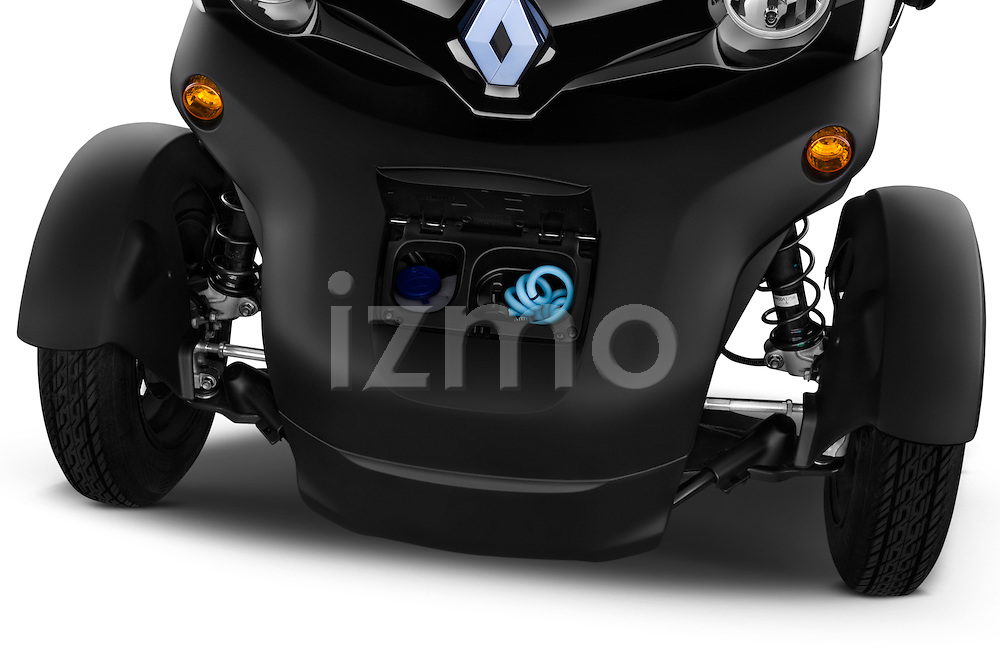 High angle engine detail of a 2012 - 2014 Renault Twizy Technic 80 Micro Car.