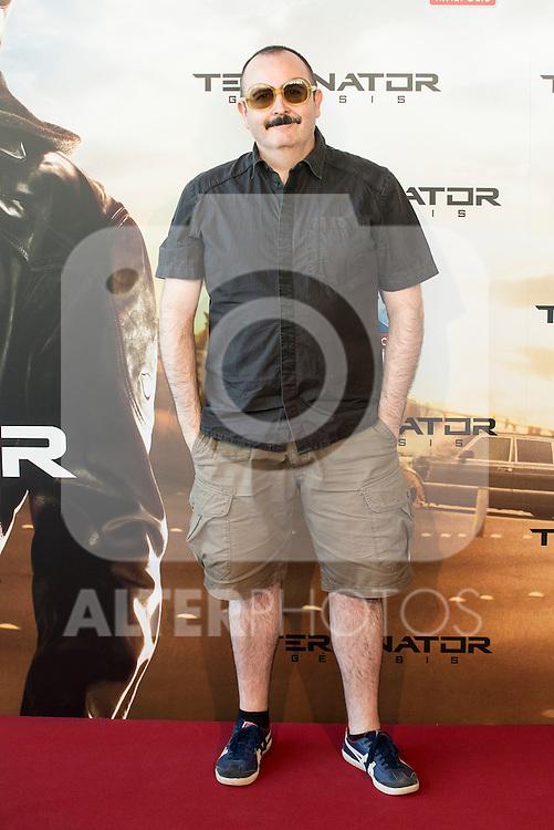 Actor Carlos Areces attends to the premiere of Terminator Genesis at Kinepolis Cinema in Madrid, Spain. July 08, 2015.<br />  (ALTERPHOTOS/BorjaB.Hojas)