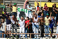 NEIVA - COLOMBIA - 16 - 07 - 2017:Hinchas del Deportivo Cali. Acción de juego entre el Atletico Huila y el Deportivo Cali i, durante partido entre Atletico Huila y Deportivo Cali, de la fecha 2 por la Liga Aguila II 2017 en el estadio Guillermo Plazas Alcid de Neiva. / Fans of Deportivo Cali.Action game between of  Atletico Huila  and  Deportivo Cali, during a match of the date 2nd for the Liga Aguila II 2017 at the Guillermo Plazas Alcid Stadium in Neiva city. Photo: VizzorImage  / Sergio Reyes / Cont.