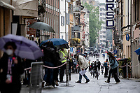 at the race start in rainy Piacenza<br /> <br /> 104th Giro d'Italia 2021 (2.UWT)<br /> Stage 4 from Piacenza to Sestola (187km)<br /> <br /> ©kramon