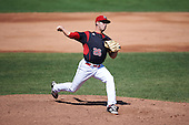 Batavia Muckdogs relief pitcher Michael Mertz (26) during a game against the Auburn Doubledays on September 5, 2016 at Dwyer Stadium in Batavia, New York.  Batavia defeated Auburn 4-3. (Mike Janes/Four Seam Images)