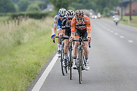 Pim Ligthart (NED/Roompot-Nederlandse Loterij), Laurens ten Dam (NED/Sunweb) & Laurens De Plus (BEL/QuickStep Floors) join forces in the breakaway<br /> <br /> Ster ZLM Tour (2.1)<br /> Stage 4: Hotel Verviers > La Gileppe (Jalhay)(190km)