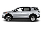 Car Driver side profile view of a 2016 Land Rover Discovery Sport HSE Luxury 5 Door Suv Side View