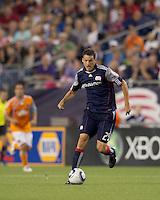 New England Revolution midfielder Marko Perovic (29) on the attack. The New England Revolution defeated Houston Dynamo, 1-0, at Gillette Stadium on August 14, 2010.