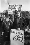 Troops Our Movement demonstrators at the Peace Movement, Peace March rally in in Hyde Park London. 1976.