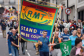 Trade Union banners on the 2005 London Gay Pride parade. Supporting unions included UNISON, RMT and GMB, as well as the Trades Union Congress (TUC).