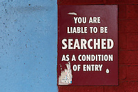 You are liable to be searched sign ahead of West Ham United Ladies vs Tottenham Hotspur Ladies, FA Women's Premier League Football at the Boleyn Ground, Upton Park