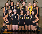 August 28, 2017- Tuscola, IL- The 2017 Tuscola Warrior Freshman/Sophomore Volleyball team. Standing from left are Kendyl Ring, Hope Dietrich, Marissa Russo, Kendal Morgan, Laney Cummings, and Kaitlyn Reifsteck. Front row from left are Sophie James, Carissa Denny, Jessie Martin, Morgan Jones, and Hannah Lemay.  [Photo: Douglas Cottle]