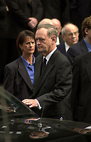 Montreal, 2000-10-03 File Photo<br /> <br /> Canadian Prime Minister and leader of the Canadian Liberal Party Jean Chretien's image is reflecting on his car.  <br /> He was re-elected r in the Federal elections  held on Monday November 27, 2000<br /> <br /> <br /> <br /> PHOTO : Agence Quebec Presse - Pierre Roussel