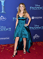 """LOS ANGELES, USA. November 08, 2019: Kayla Cromer at the world premiere for Disney's """"Frozen 2"""" at the Dolby Theatre.<br /> Picture: Paul Smith/Featureflash"""