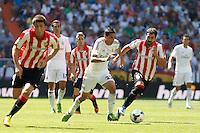 Real Madrid's Di Maria and Athletic Club's Balenziaga during La Liga Match. September 01, 2013. (ALTERPHOTOS/Caro Marin) <br /> Football Calcio 2013/2014<br /> La Liga Spagna<br /> Foto Alterphotos / Insidefoto <br /> ITALY ONLY