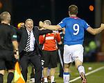 Ally McCoist celebrates with Jon Daly