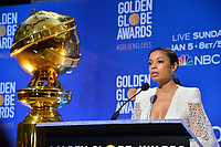 LOS ANGELES, USA. December 09, 2019: Susan Kelechi Watson at the nominations announcement for the 77th Golden Globe Awards at the Beverly Hilton Hotel.<br /> Picture: Paul Smith/Featureflash