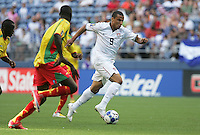 Charlie Davies dribbles the ball down the field during the First Round of the 2009 CONCACAF Gold Cup at Qwest Field in Seattle, Washington on July 4, 2009.