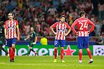 Atletico de Madrid's Diego Godin, Nicolas Gaitan and Jose Maria Gimenez dejected after Champions League 2017/2018, Group C, match 2. September 27,2017. (ALTERPHOTOS/Acero)