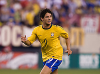 Alexandre Pato (9) of Brazil makes a run through the box during an international friendly at the New Meadowlands Stadium in East Rutherford, NJ. Brazil defeated the USMNT, 2-0.