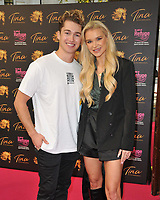 """AJ Pritchard and Abbie Quinnen at the """"Tina: The Tina Turner Musical"""" Refuge gala performance, Aldwych Theatre, Aldwych, on Sunday 10th October 2021, in London, England, UK. <br /> CAP/CAN<br /> ©CAN/Capital Pictures"""