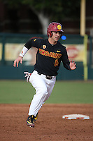 Matthew Acosta #6 of the Southern California Trojans runs the bases during a game against the Coppin State Eagles at Dedeaux Field on February 18, 2017 in Los Angeles, California. Southern California defeated Coppin State, 22-2. (Larry Goren/Four Seam Images)