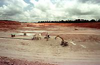 Vista aérea da mina de caulim da Pará Pigmentos em Ipixuna, CVRD.<br />Ipixuna-Pará-Brasil12/09/2000<br />©Foto: Paulo Santos/ Interfoto