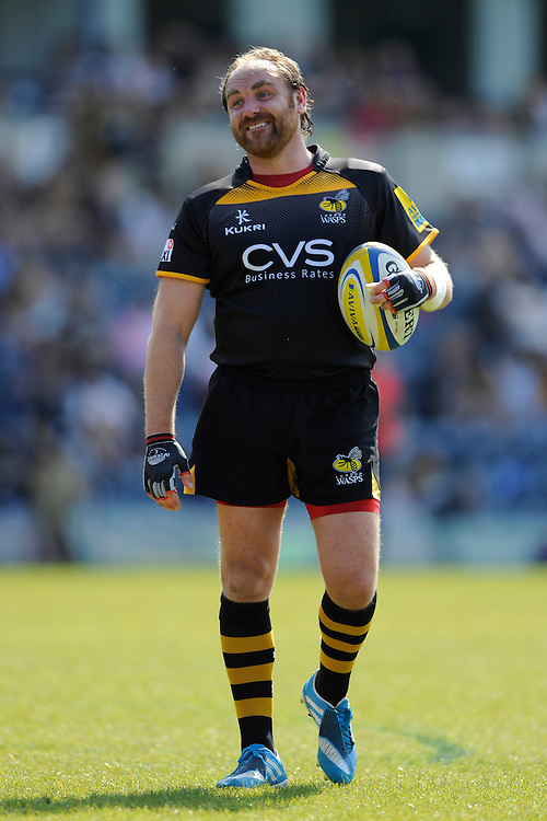 Andy Goode of London Wasps during the first leg of the European Rugby Champions Cup play-off match between London Wasps and Stade Francais at Adams Park on Sunday 18th May 2014 (Photo by Rob Munro)