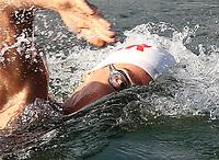 LAGO CALIMA - COLOMBIA, 29-04-2017: Aspecto de las pruebas de Nado en aguas abiertas como parte de los Campeonatos Sudamericanos Juveniles De Natacion 2017 que se realizan en el Lago Calima, Valle del Cauca, Colombia. / Aspect of Open Water Swim tests as part of the 2017 Swimming Youth Swimming Championships held in Lake Calima, Valle del Cauca, Colombia. Photo: VizzorImage / Juan Carlos Quintero  / Cont