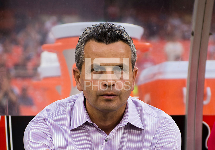 Chicago Fire head coach Frank Klopas watches his team take the field at RFK Stadium in Washington, DC.  D.C. United defeated the Chicago Fire, 4-2.