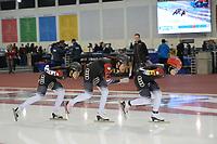 SPEEDSKATING: 14-02-2020, Utah Olympic Oval, ISU World Single Distances Speed Skating Championship, Team Pursuit Ladies, Team China (CHN), ©Martin de Jong