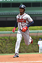 Atlanta Braves Ozzie Albies #1 during a game against the Chicago Cubs on May 14, 2018 at Wrigley Field in Chicago, IL. The Braves beat the Cubs 6-5.