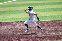 Wright State Raiders catcher Konner Piotto (23) hustles to third base against the Duke Blue Devils in NCAA Regional play on Robert M. Lindsay Field at Lindsey Nelson Stadium on June 5, 2021, in Knoxville, Tennessee. (Danny Parker/Four Seam Images)