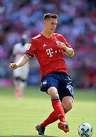 12.05.2018, Football 1. Bundesliga 2017/2018, 34.  match day, FC Bayern Muenchen - VfB Stuttgart, in Allianz-Arena Muenchen.  Niklas Suele (FC Bayern Muenchen) . *** Local Caption *** © pixathlon<br /> <br /> +++ NED + SUI out !!! +++<br /> Contact: +49-40-22 63 02 60 , info@pixathlon.de
