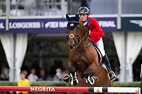 3rd October 2021;  Real Club de Polo, Barcelona, Spain; CSIO5 Longines FEI Jumping Nations Cup Final 2021; Spencer Smith from USA during the FEI Jumping Nations Cup Final 2021