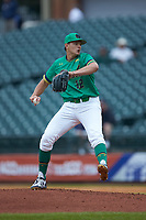 Notre Dame Fighting Irish relief pitcher Brandon Bielak (12) in action against the Florida State Seminoles in Game Four of the 2017 ACC Baseball Championship at Louisville Slugger Field on May 24, 2017 in Louisville, Kentucky. The Seminoles walked-off the Fighting Irish 5-3 in 12 innings. (Brian Westerholt/Four Seam Images)