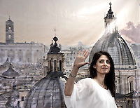 Virginia Raggi<br /> Roma 19-06-2016 Conferenza stampa della neo eletta sindaco di Roma subito dopo l'esito del voto.<br /> Press conference of the new Mayor of Rome, the first woman elected, just after the electoral results.<br /> Photo Samantha Zucchi Insidefoto