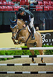 15 April 2009: Darragh Kerins and Night train at the show jumping training session for the FEI World Cup Finals.