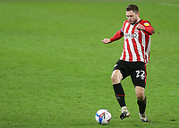 Henrik Dalsgaard of Brentford in action during Brentford vs Luton Town, Sky Bet EFL Championship Football at the Brentford Community Stadium on 20th January 2021