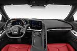 Stock photo of straight dashboard view of 2020 Chevrolet Corvette-Stingray 1LT 3 Door Targa Dashboard