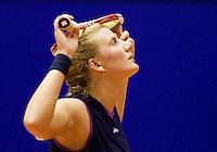 9-12-08, Rotterdam, Reaal Tennis Masters,  Linda Sentis in frustration