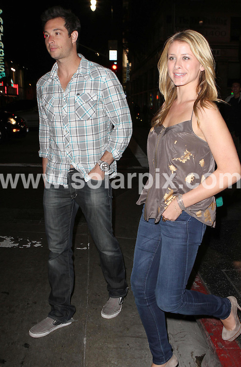 **ALL ROUND PICTURES FROM SOLARPIX.COM**.**SYNDICATION RIGHTS FOR UK AND SPAIN ONLY**.American actress Lauren 'Lo' Bosworth, star of MTV show 'The Hills', and her boyfriend Scott Hochstadt were seen out for dinner at Katsuya restaurant in West Hollywood, California, USA. 2 June 2010..This pic: Lauren Bosworth and Scott Hochstadt..JOB REF: 11393 PRT        DATE: 02_06_2010.**MUST CREDIT SOLARPIX.COM OR DOUBLE FEE WILL BE CHARGED**.**MUST NOTIFY SOLARPIX OF ONLINE USAGE**.**CALL US ON: +34 952 811 768 or LOW RATE FROM UK 0844 617 7637**