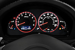 Instrument panel close up detail view of a 2008 Subaru Legacy GT sedan