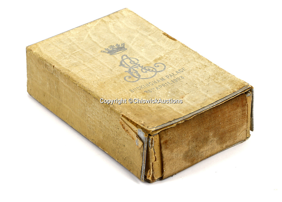 BNPS.co.uk (01202 558833)<br /> Pic: ChiswickAuctions/BNPS<br /> <br /> This slice of Royal history could be yours at the right price. <br /> <br /> Two slices of fruit cake from the weddings of the Queen and her father, King George VI, have emerged for sale. <br /> <br /> The pieces of wedding cake, that are still in their original Royal presentation boxes, are tipped to sell for a combined £2,000.<br /> <br /> The cake from the Royal wedding of Prince Albert and Elizabeth Bowes-Lyon (the Queen Mother) dates back to April 1923.<br /> <br /> The cake for the wedding of Princess Elizabeth and Prince Philip is from November 1947.