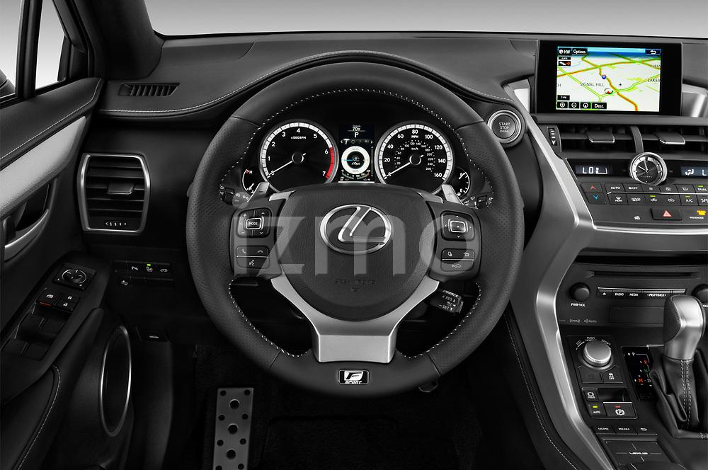 Car pictures of steering wheel view of a 2017 Lexus NX 200t-F-Sport 5 Door SUV Steering Wheel