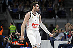 Real Madrid's Rudy Fernandez celebrates during Euroleague match.March 27,2015. (ALTERPHOTOS/Acero)